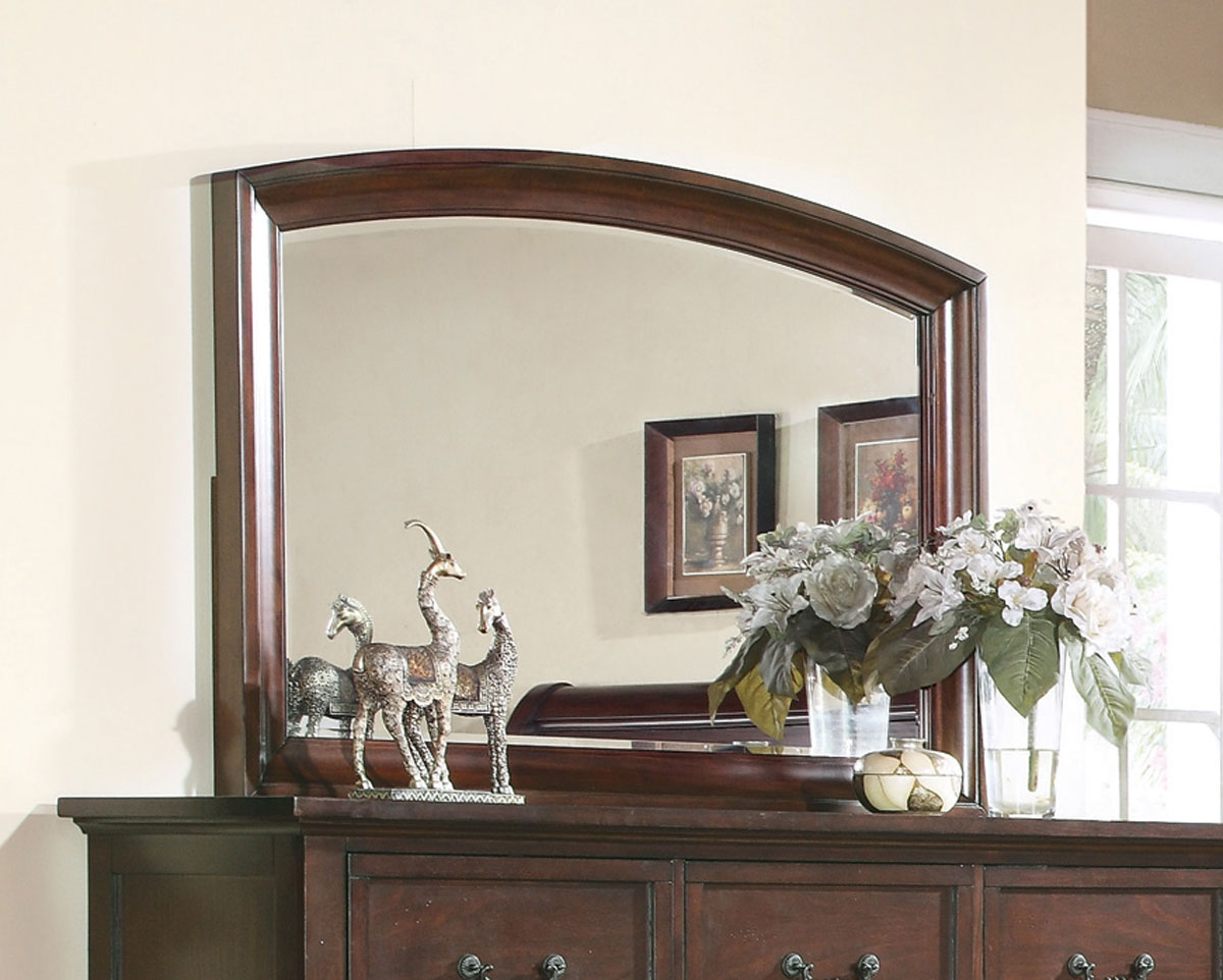 Coaster Hannah Mirror - Dark Cherry