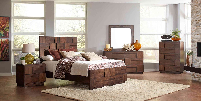 Coaster gallagher bedroom set golden brown 200851 for Bedroom furniture for less