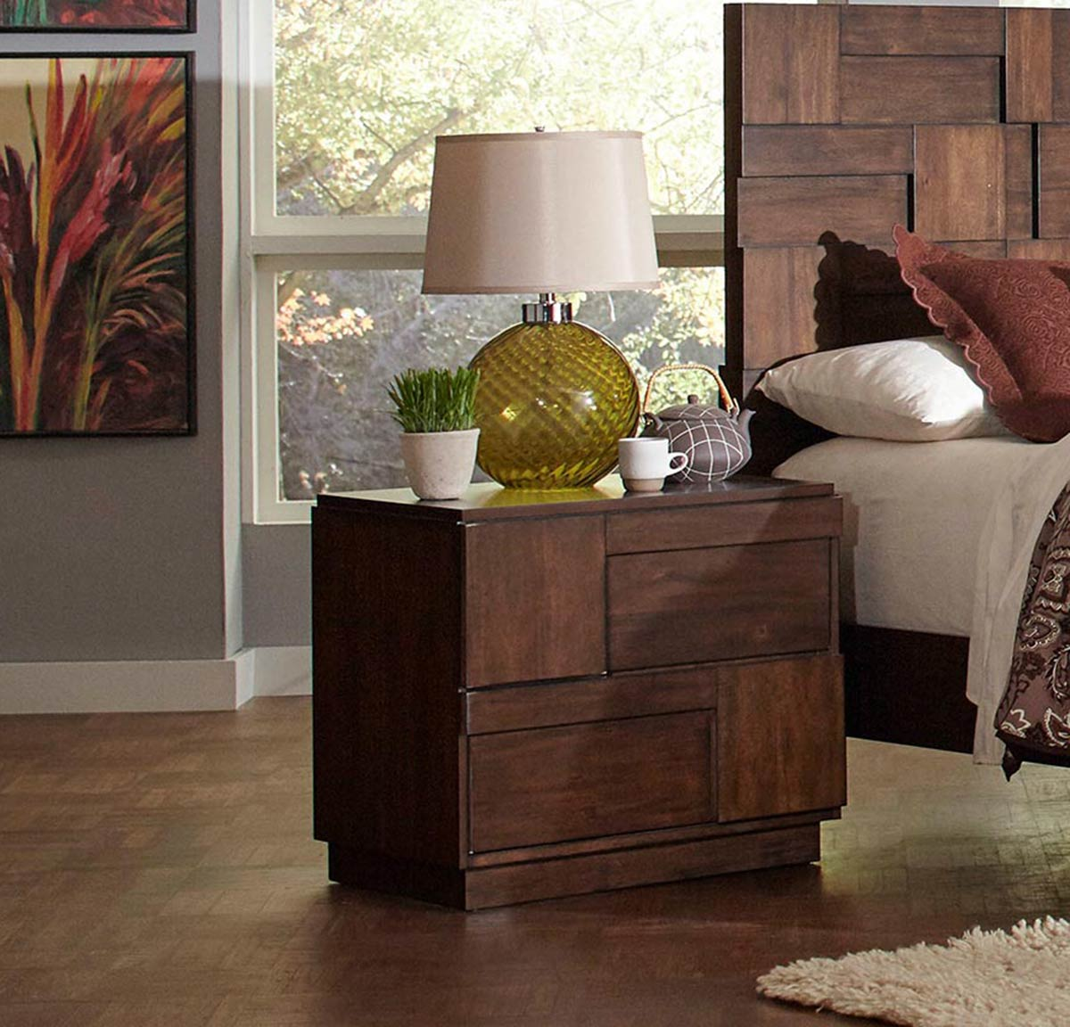 Coaster Gallagher Nightstand - Golden Brown