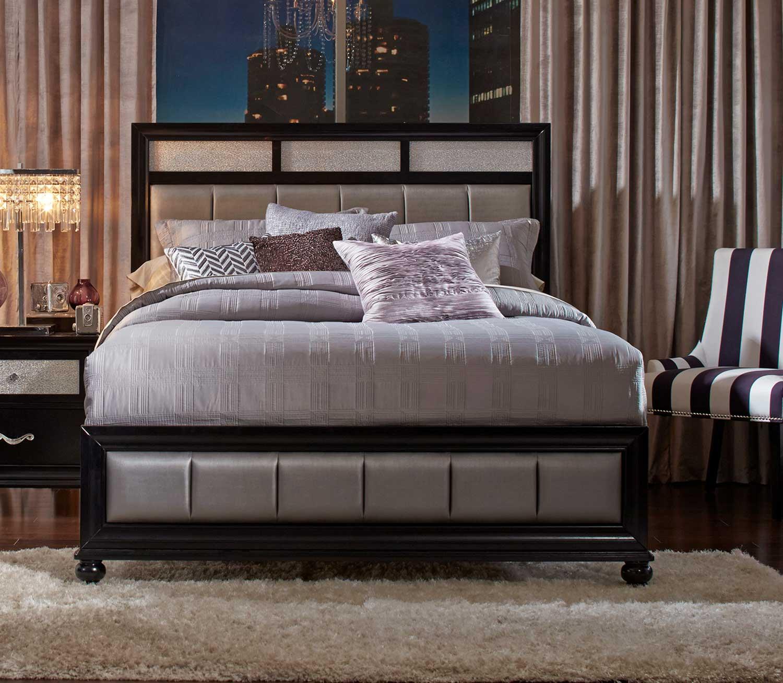 Coaster Barzini Upholstered Bed - Black