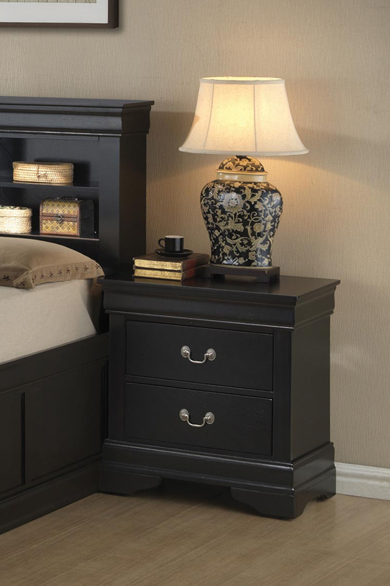 Coaster Louis Philippe Nightstand - Black