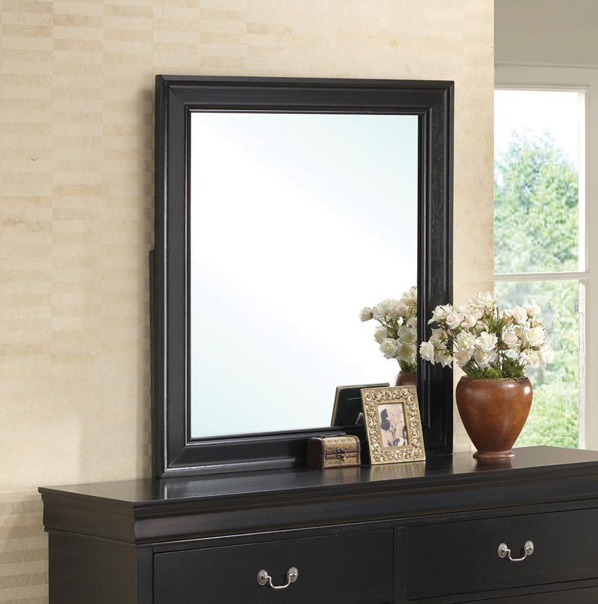 Coaster Louis Philippe Mirror - Black