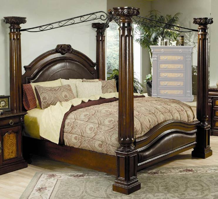 Coaster Montecito Poster Canopy Bed
