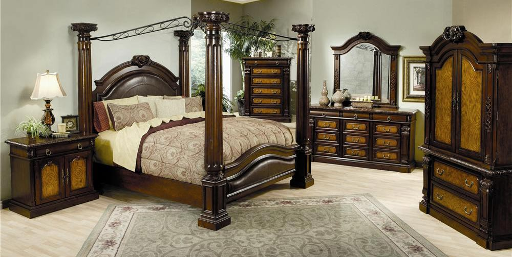 bedroom set sales on Poster Bedroom Set   Coaster  Co 201201 Bed Set   Traditional Bedroom