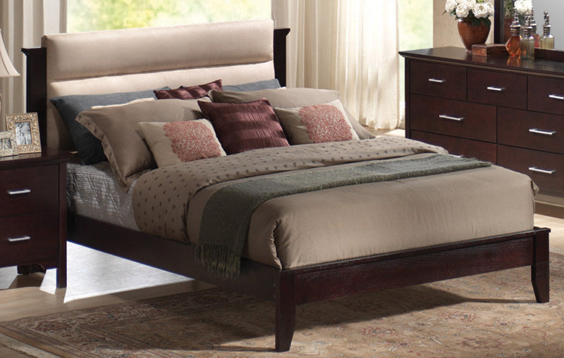 Coaster Kendra Panel Bed - Cappuccino