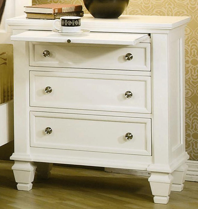 Coaster Sandy Beach Light 3 Drawer Night Stand 201302