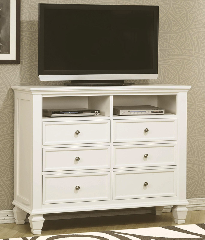 Coaster Sandy Beach Light TV Dresser