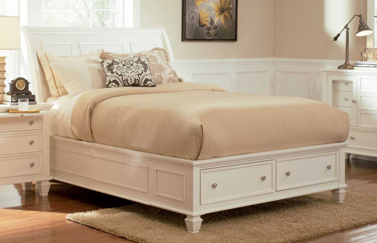 Coaster Sandy Beach Light Platform Storage Bed