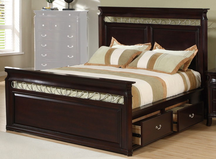 Coaster Manhattan Panel Bed with Storage