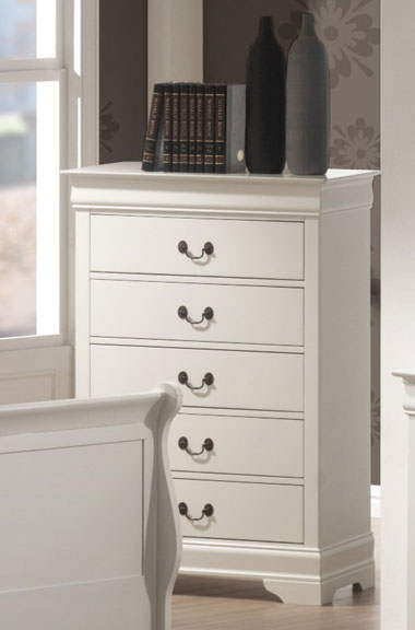 Coaster Louis Philippe Chest - White