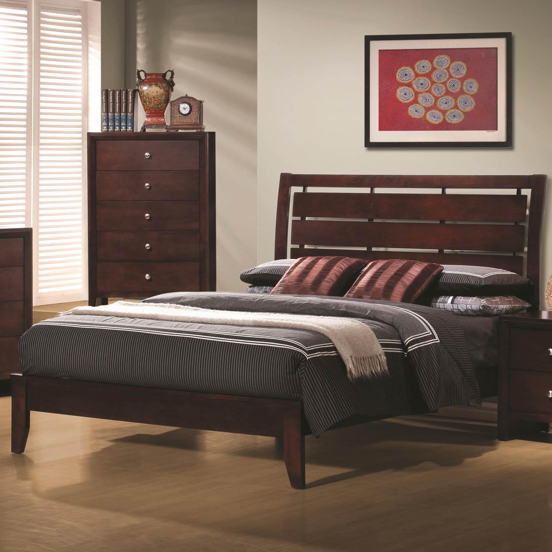 Coaster Serenity Bed - Rich Merlot