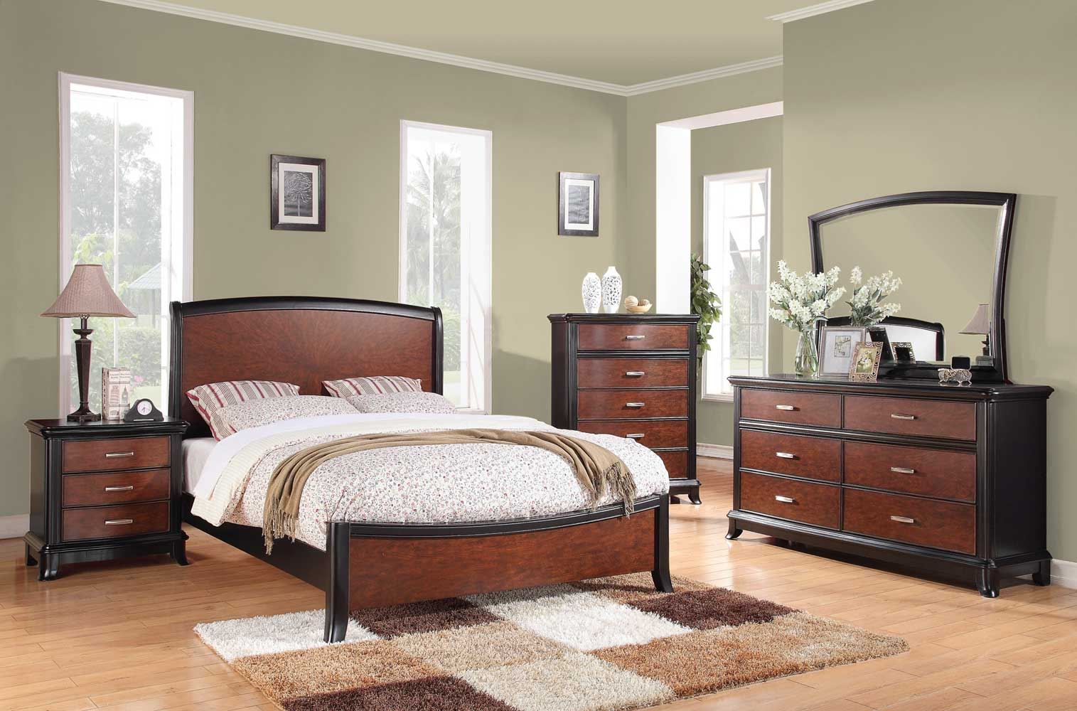 Coaster Josephina Bedroom Set - Cherry/Mocha