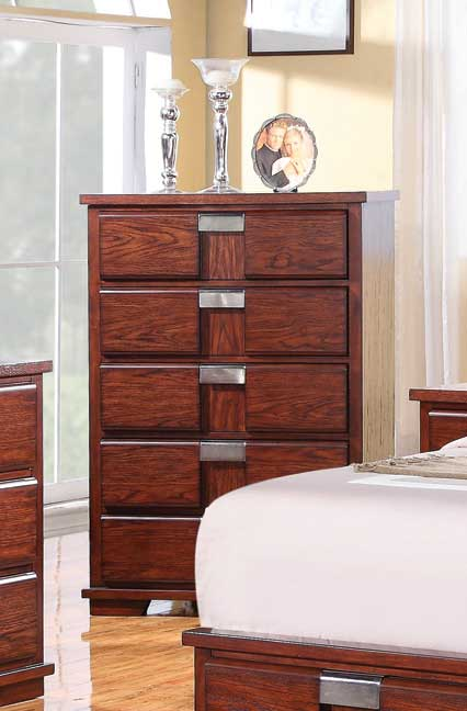 Coaster Hyland Chest - Dark Cherry