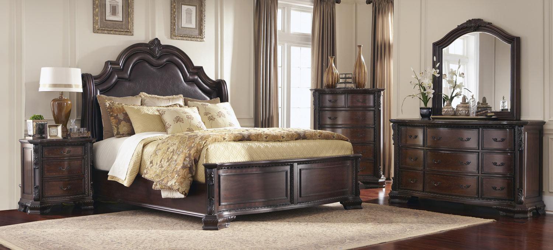 Coaster Maddison Bedroom Set - Brown/Cherry