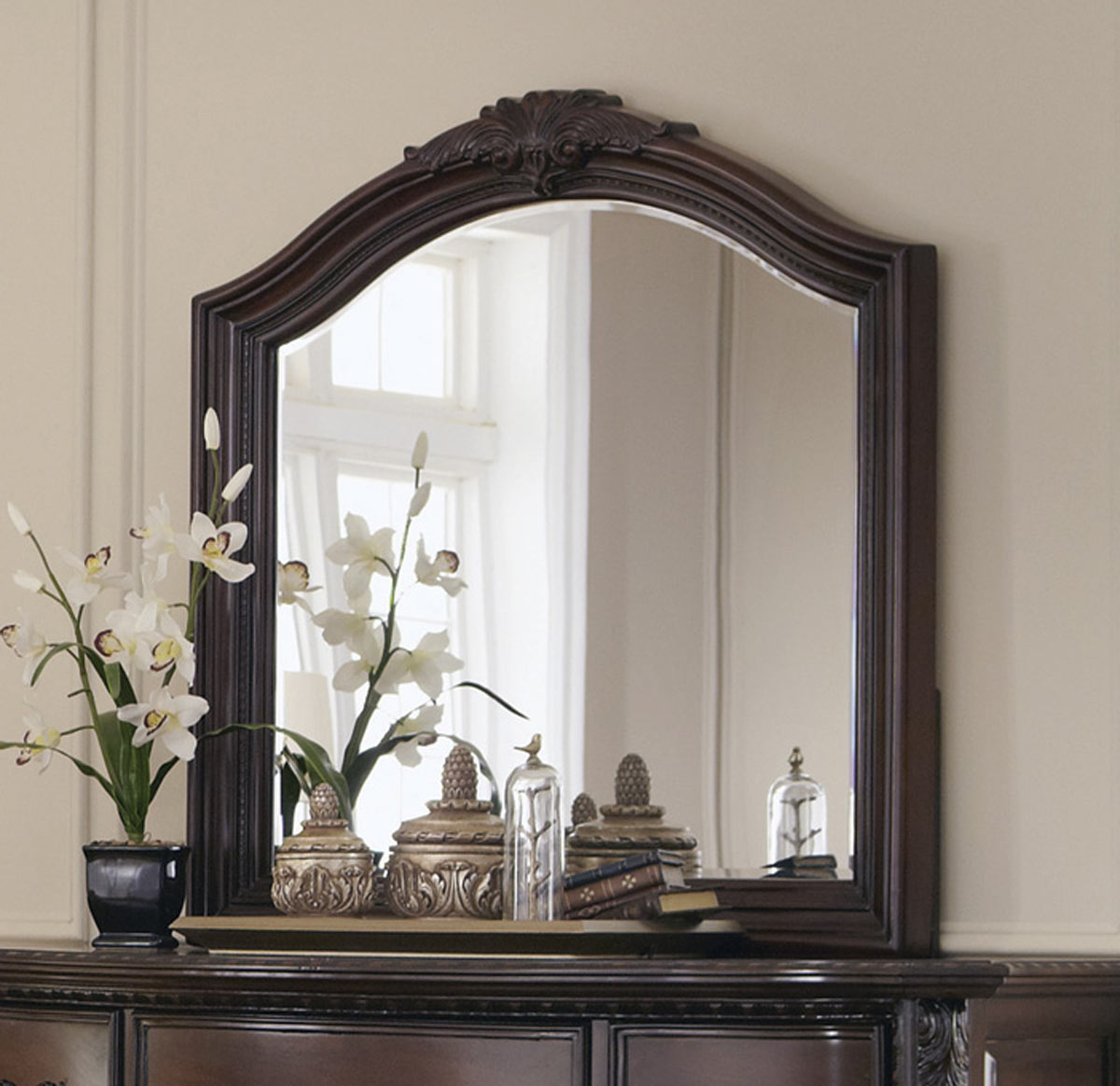 Coaster Maddison Mirror - Brown Cherry