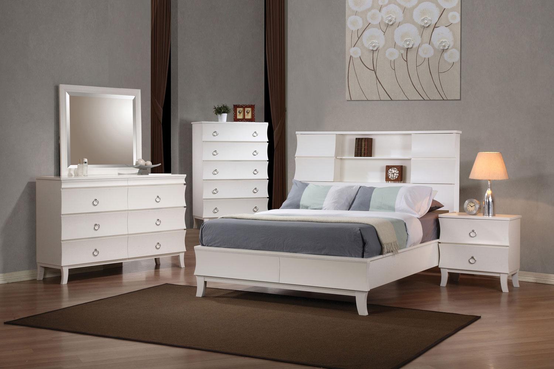 Coaster Holland Low Profile Bookcase Bedroom Set - White