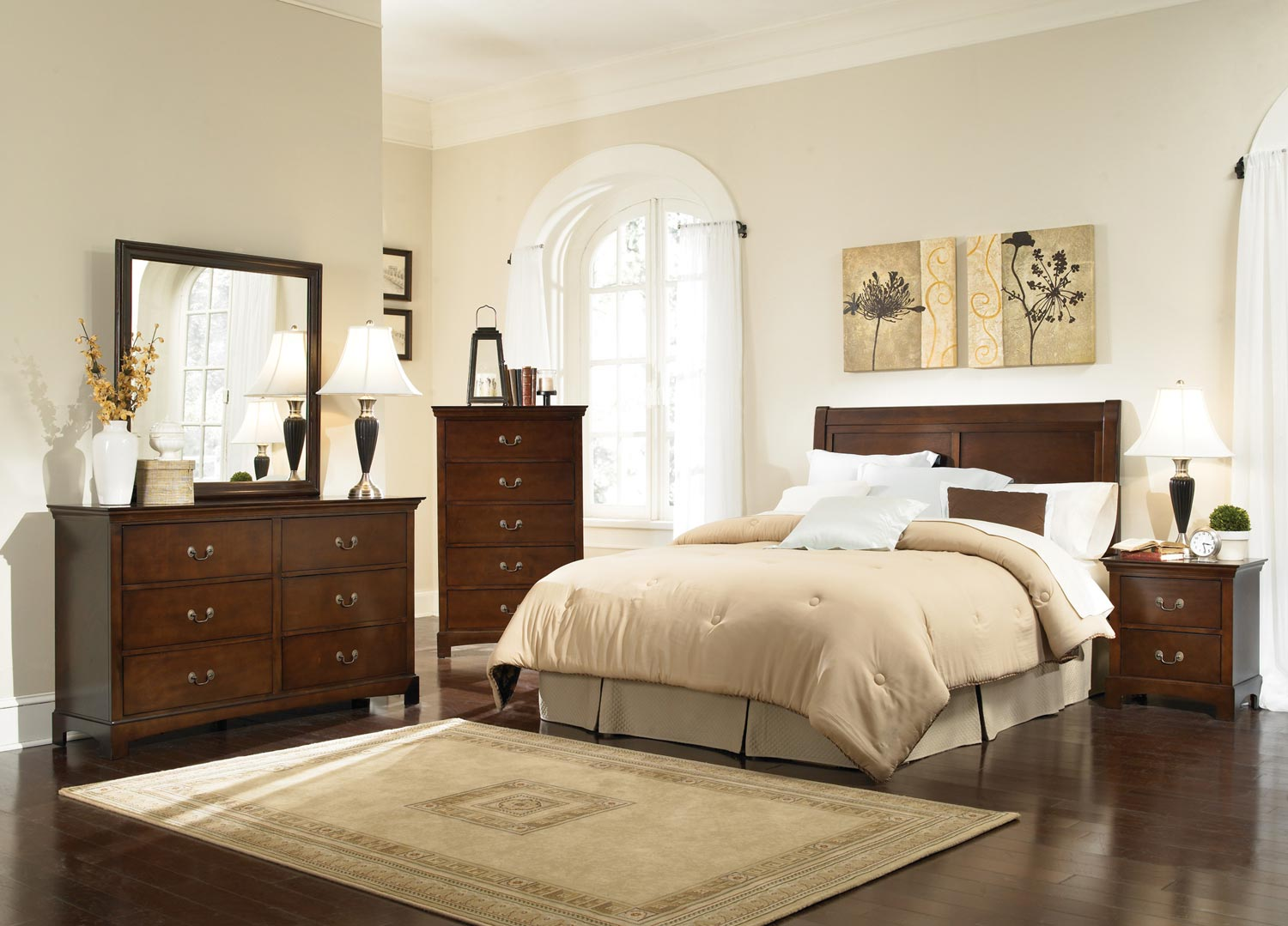 contemporary bedroom set at homelement