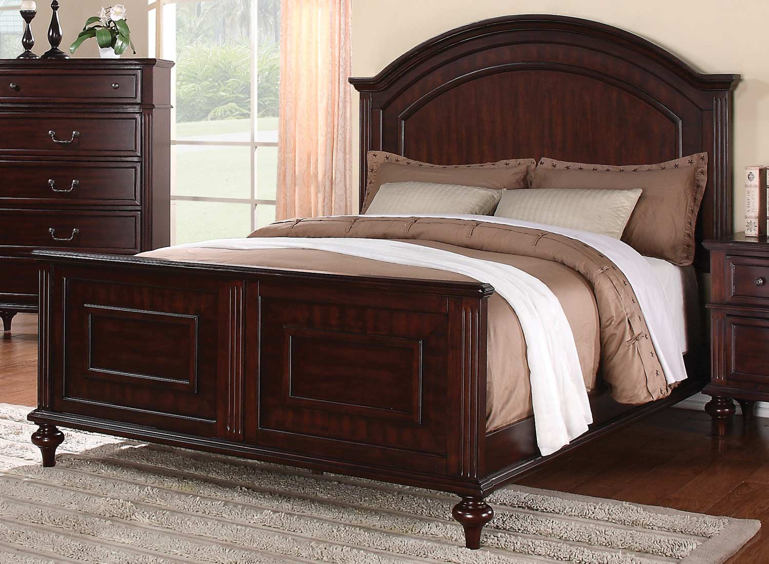 Coaster Emily Bed - Brown Cherry