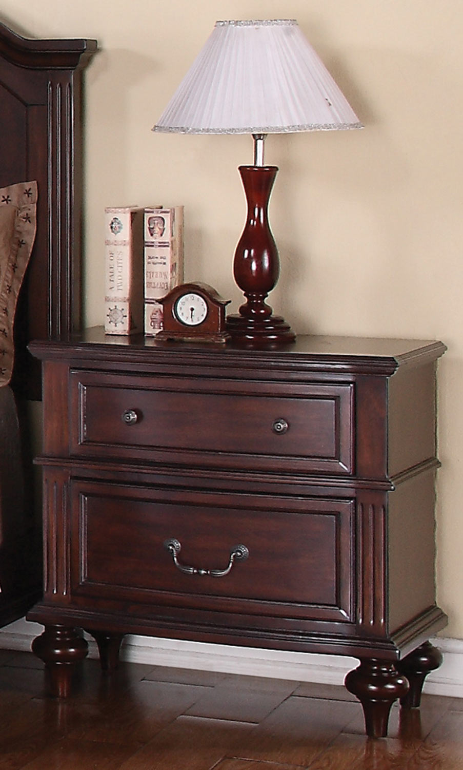 Coaster Emily Night Stand - Brown Cherry