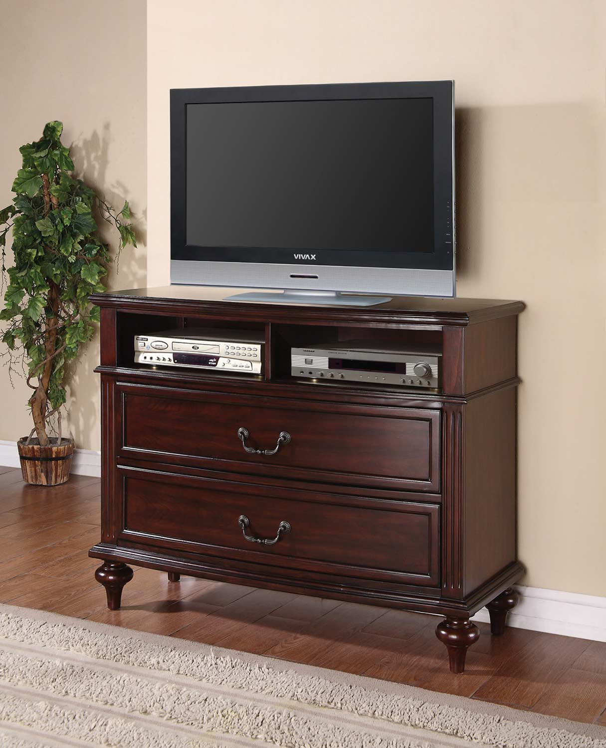Coaster Emily Media Chest - Brown Cherry