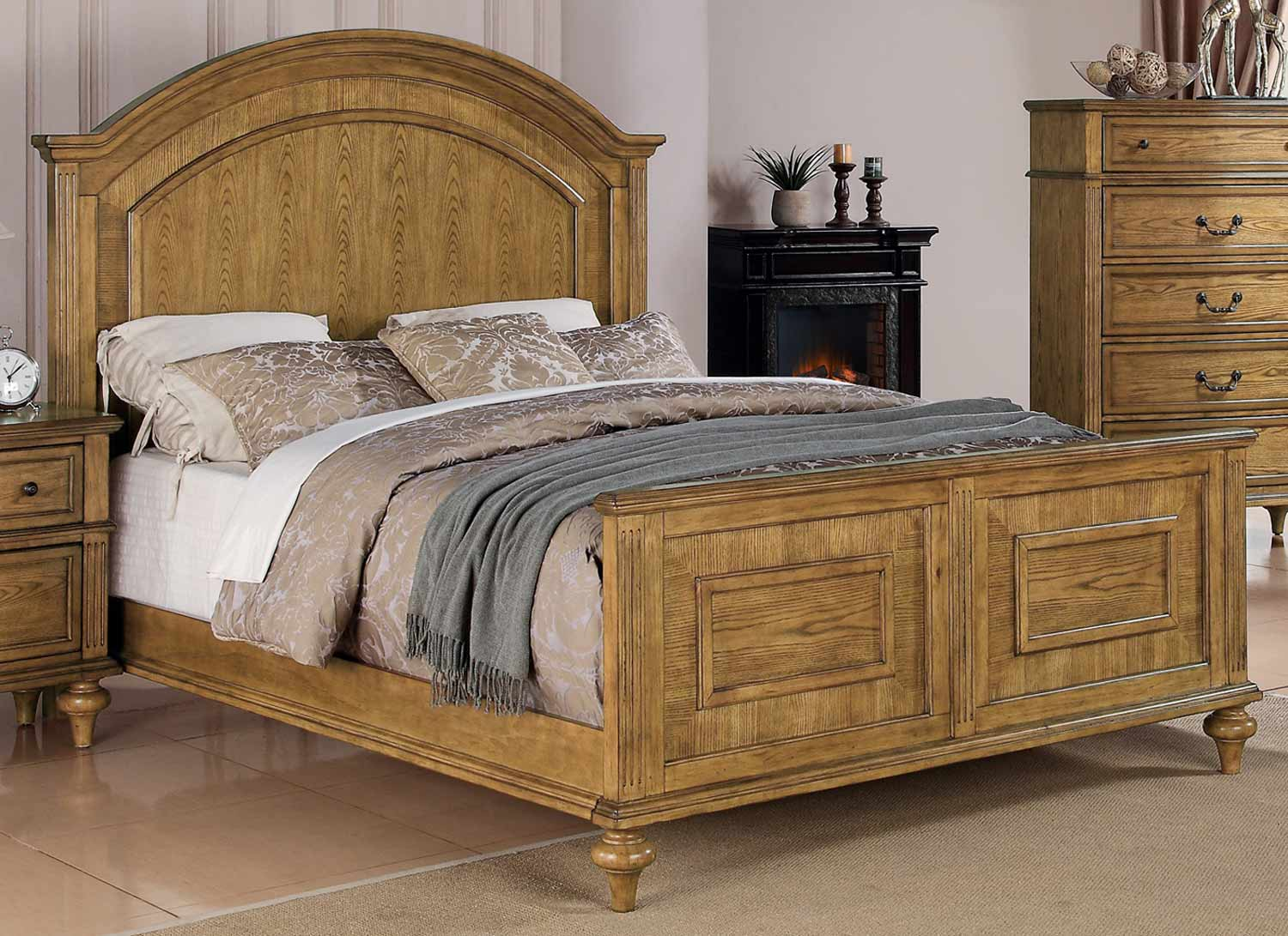 emily bed light oak