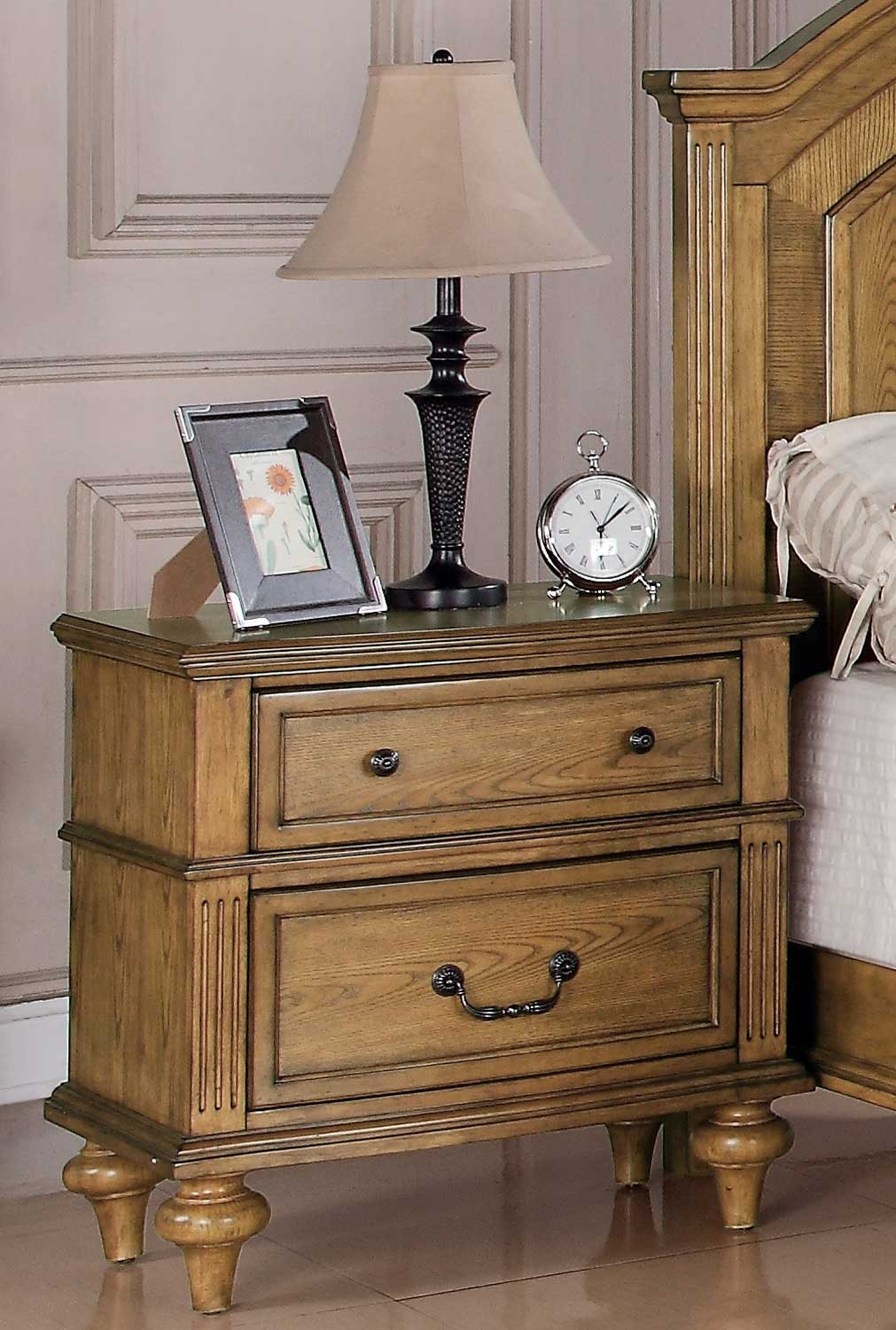 emily night stand light oak