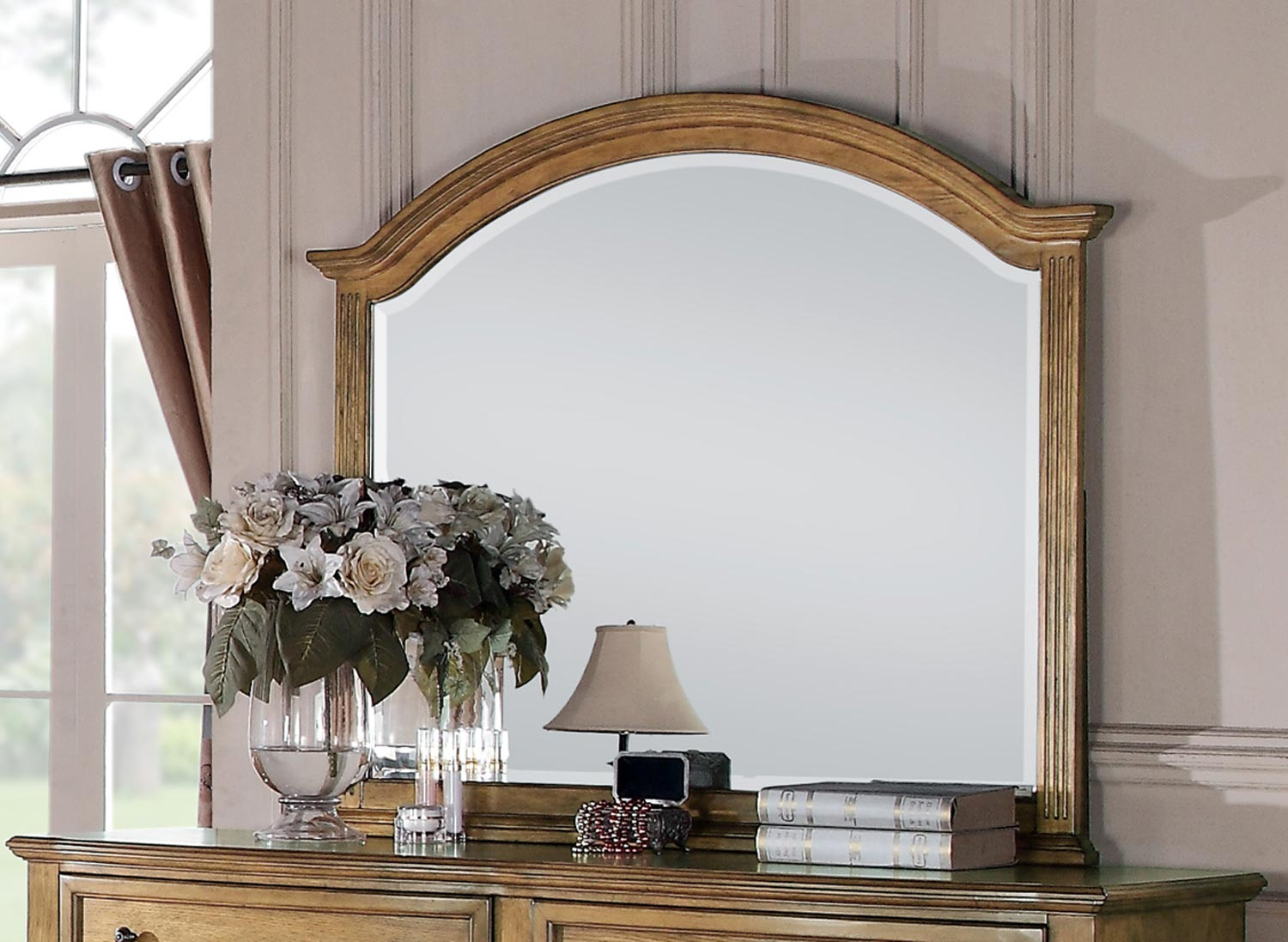 Coaster Emily Mirror - Light Oak