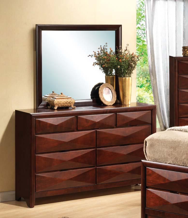 Coaster Bree Dresser - Brown Cherry