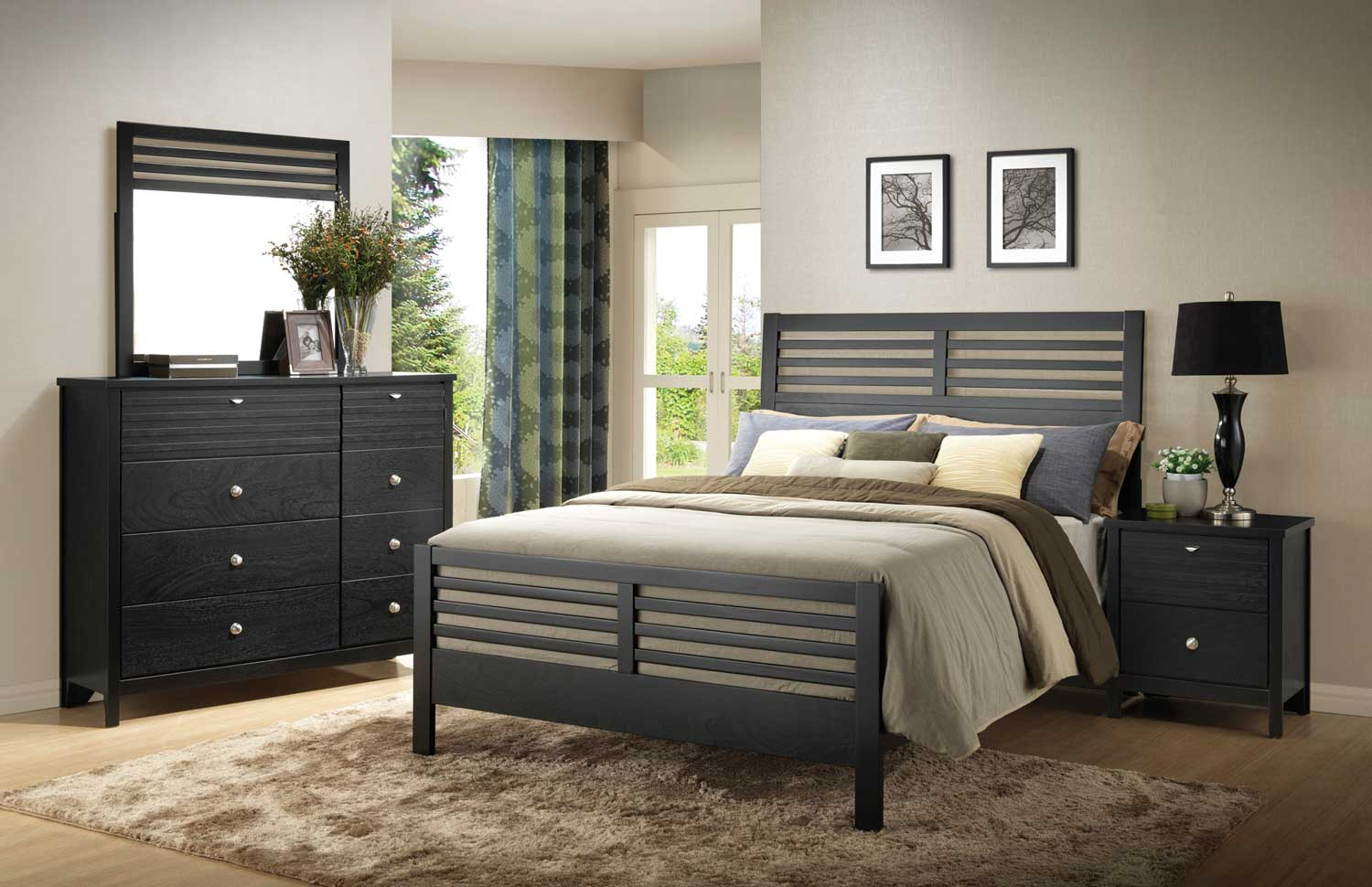 Coaster Richmond Bedroom Set Black 202721 Bed Set