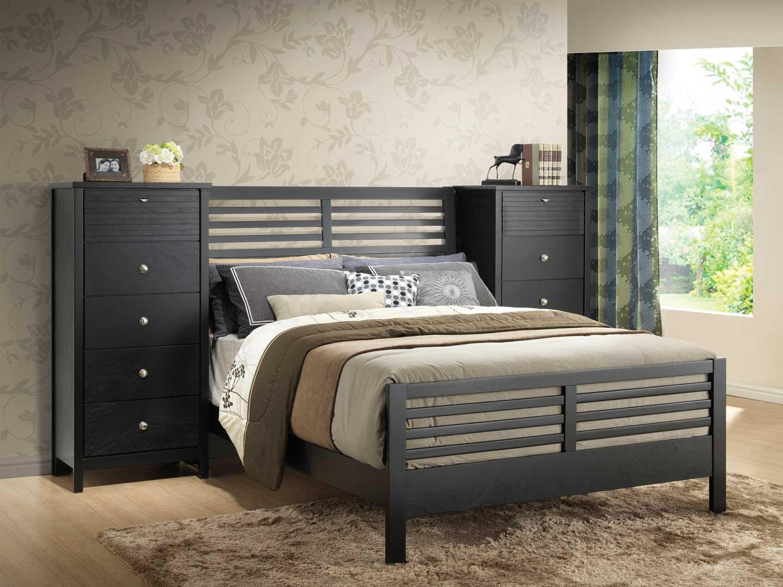 coaster richmond pier bedroom set black 202721 pier bed set