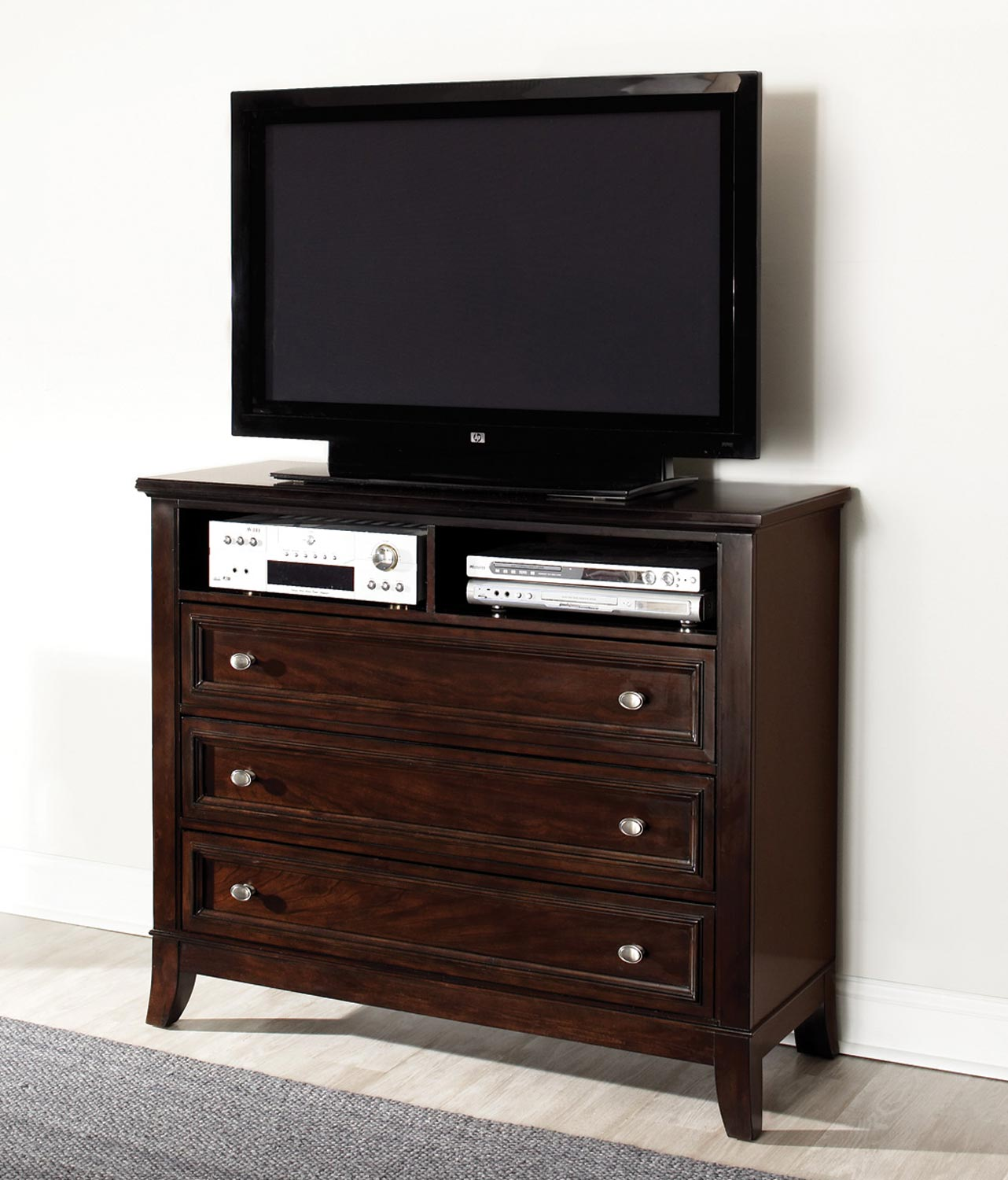 Coaster Findley Media Chest - Dark Cherry