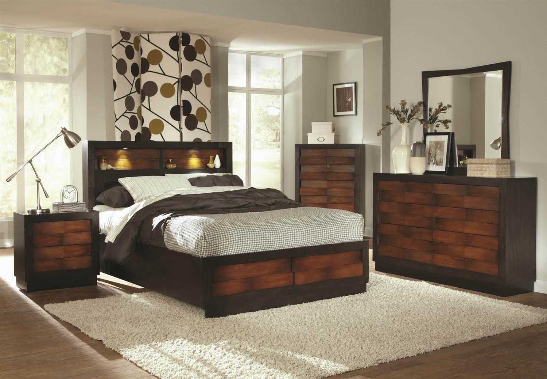 Coaster Rolwing Bedroom Collection - Reddish Oak/Espresso