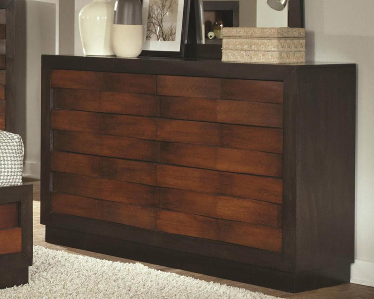 Coaster Rolwing Dresser - Reddish Oak/Espresso