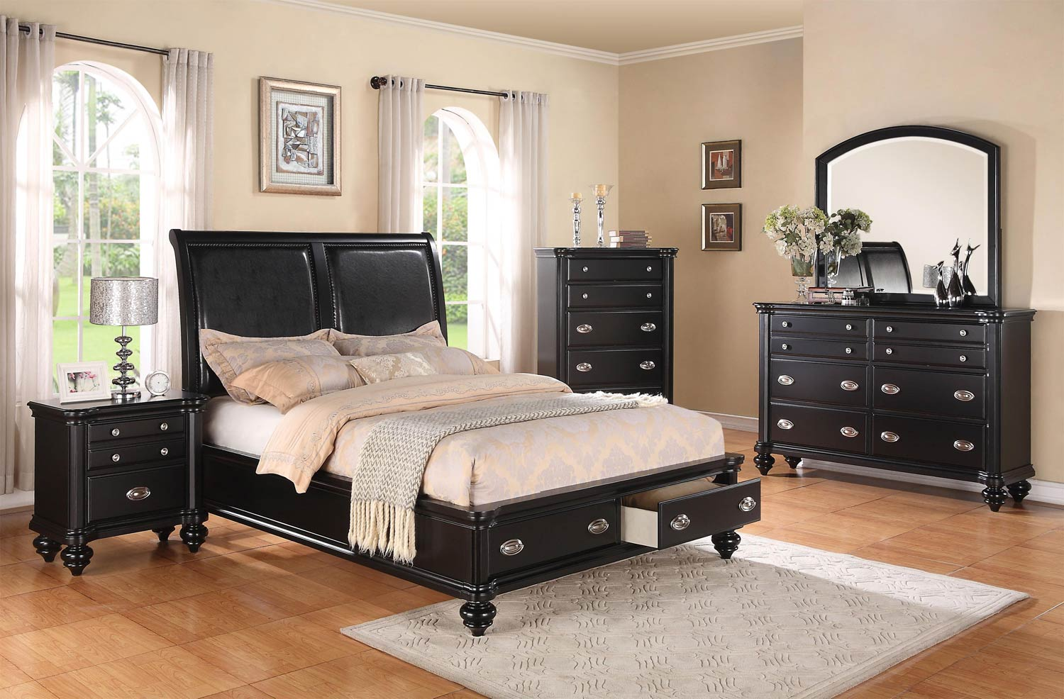 Coaster Lady Valerie Bedroom Collection - Black