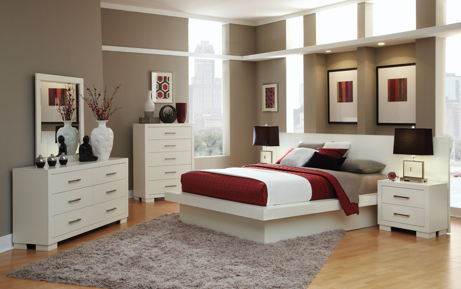 Coaster Jessica Bedroom Set - White 202990-Bed-Set at Homelement.com