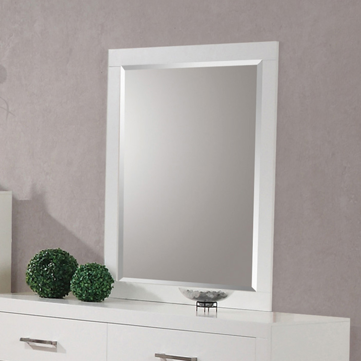 Coaster Jessica Mirror - White