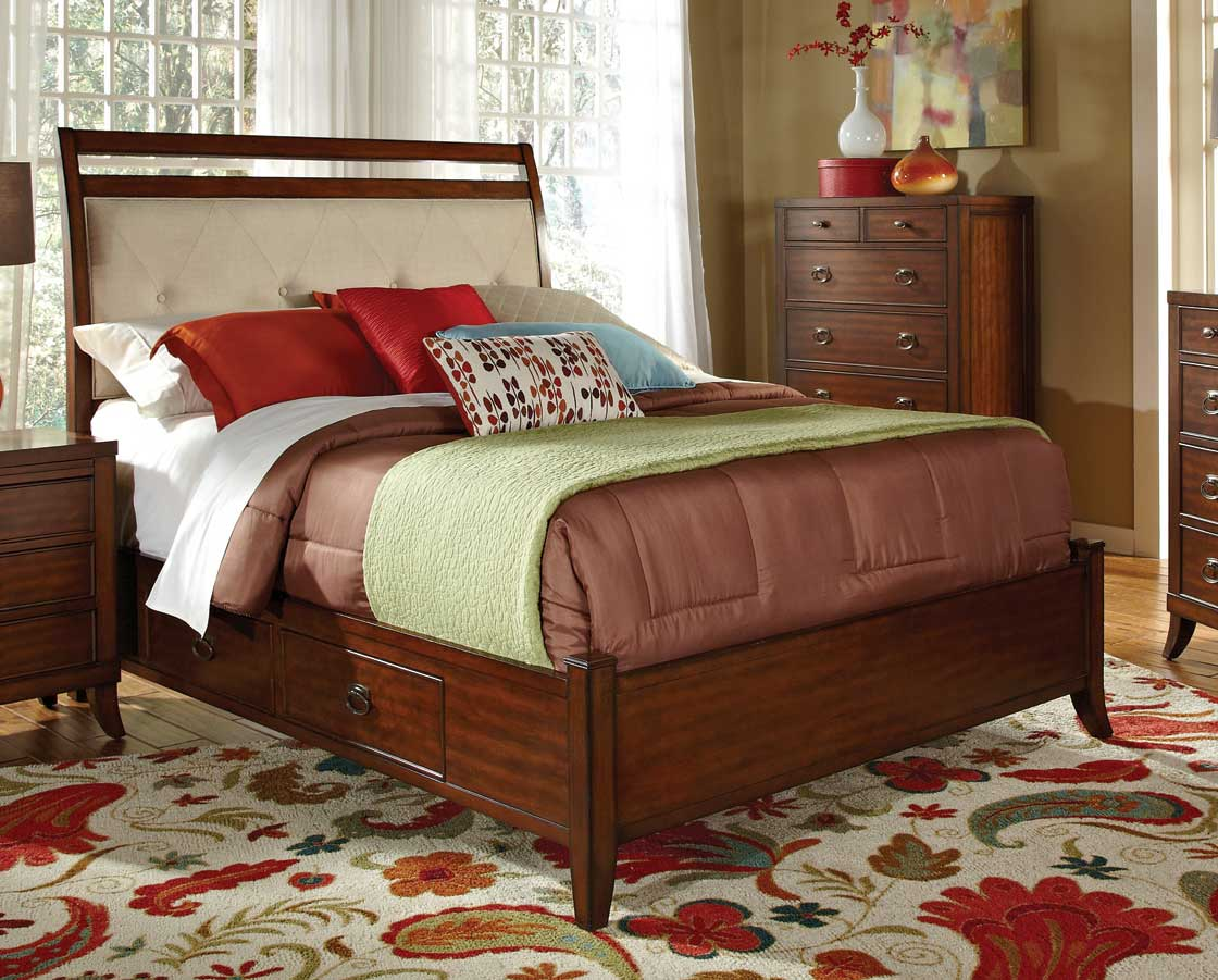 Coaster Ortiz Bed - Cherry