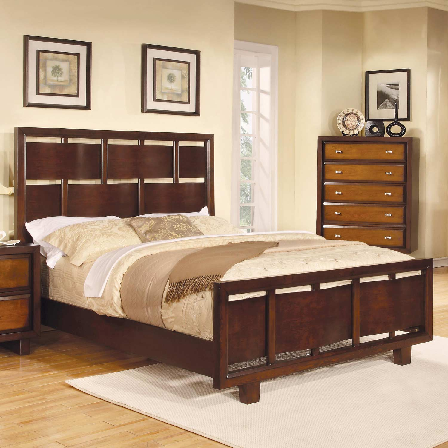 Coaster Nelson Bed - Oak/Brown/Cherry