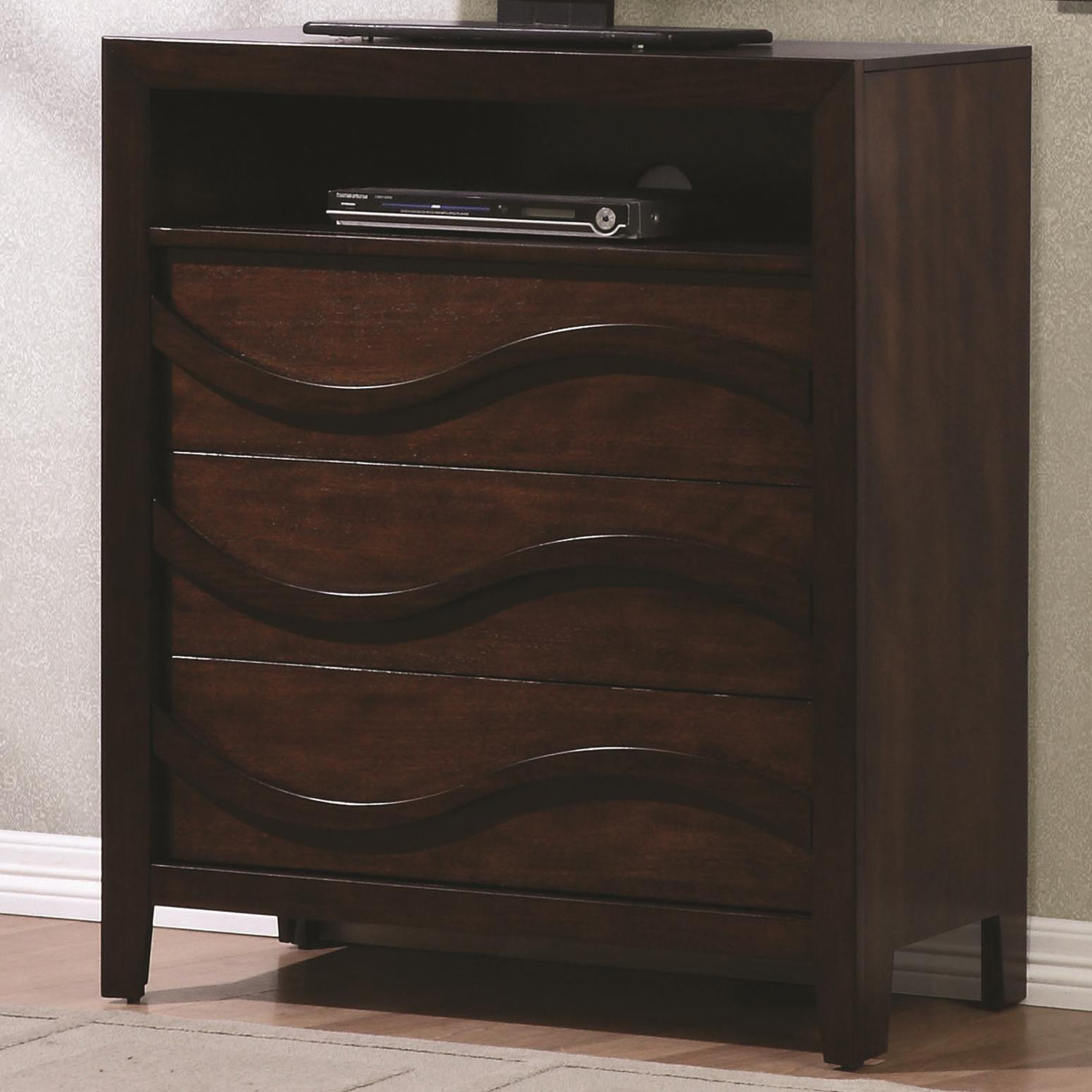 Coaster Loncar Media Chest - Java Oak