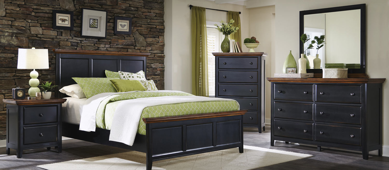 Coaster Mabel Bedroom Set - Medium Oak/Black