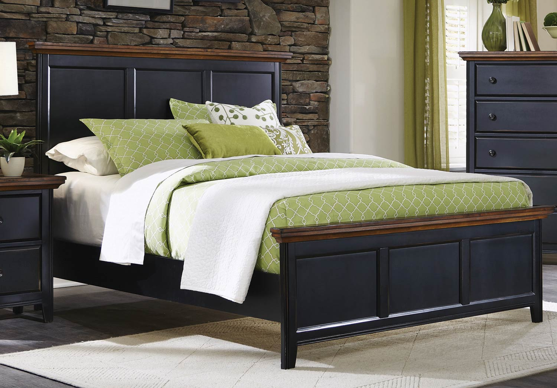 Coaster Mabel Bed - Medium Oak/Black