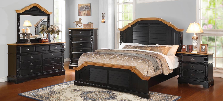 Coaster Oleta Bedroom Set - Black/Oak