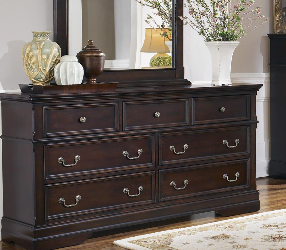 Coaster Cambridge Dresser - Dark Cherry