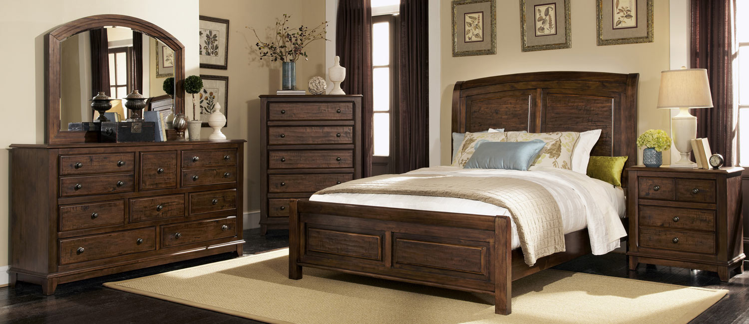Coaster laughton 203260 bedroom set cocoa brown 203260 for Bedroom furniture for less