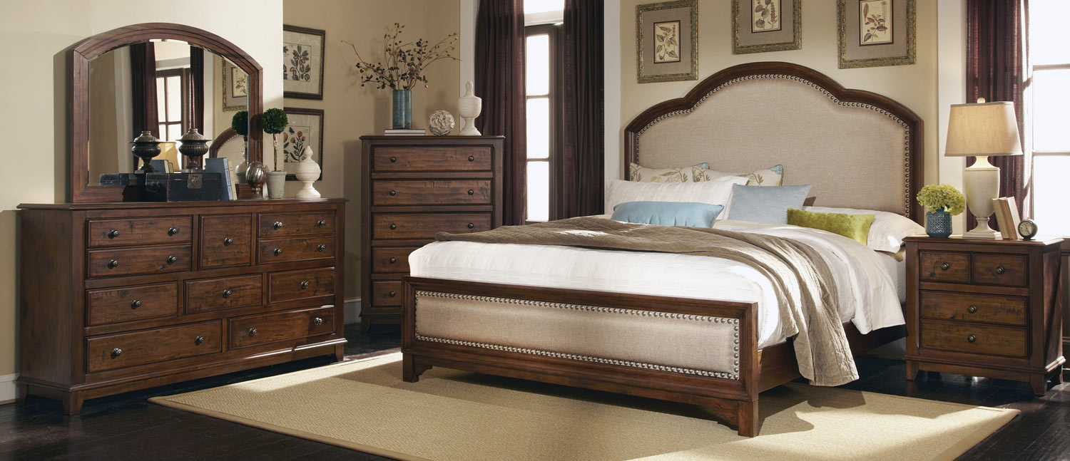 Coaster laughton 203261 bedroom set cocoa brown 203261 for Bedroom furniture for less