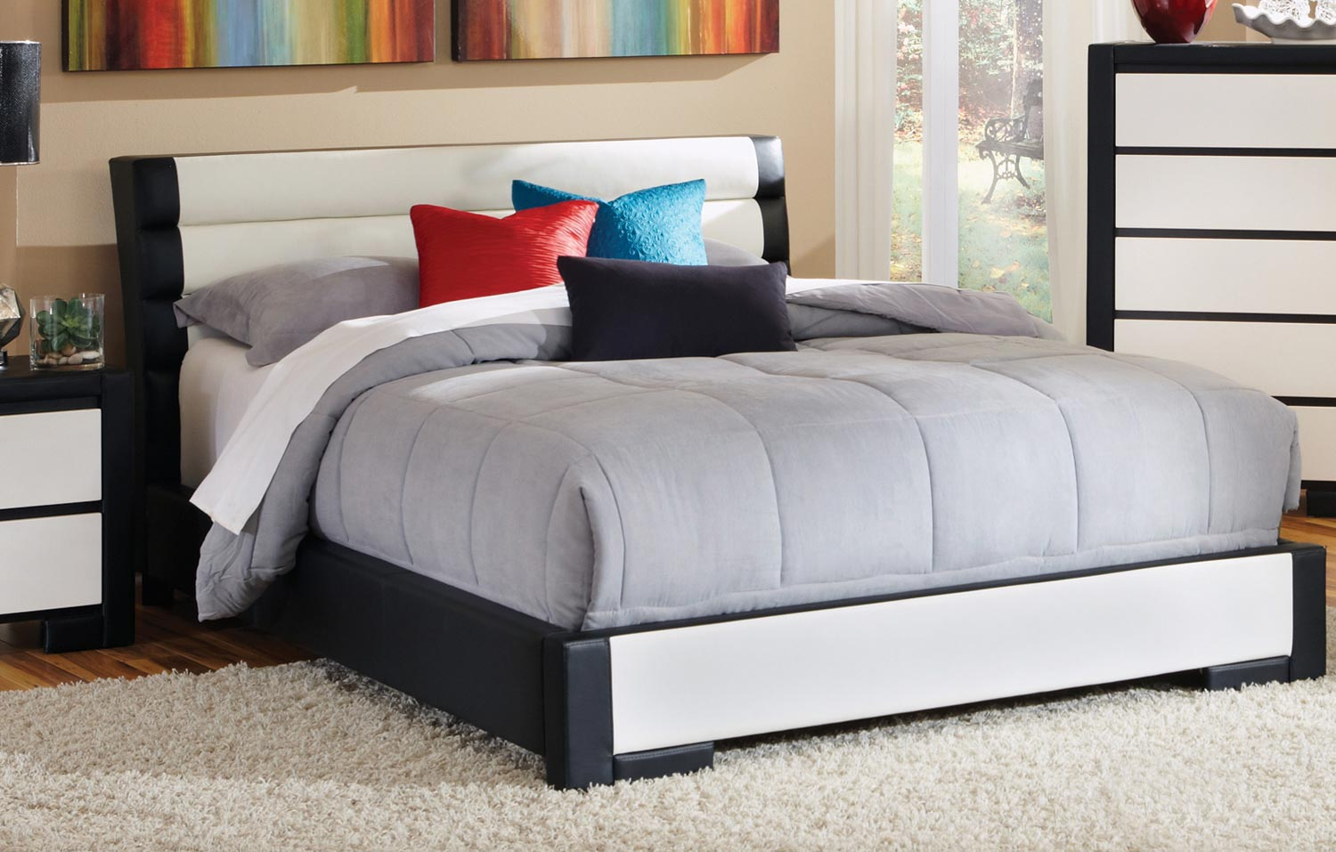 Coaster Regan Platform Bed - Black