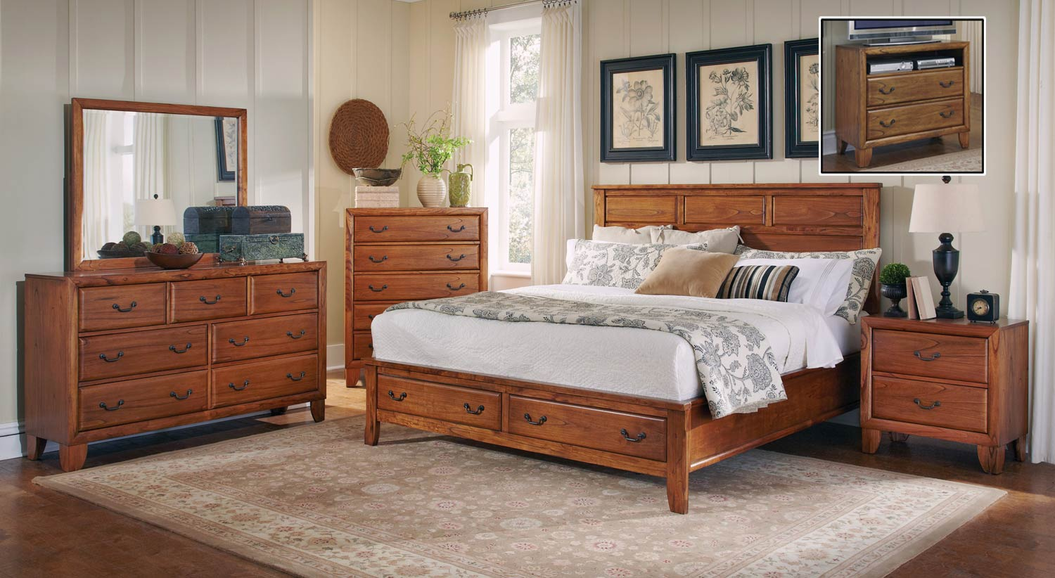 Coaster Willow Creek Bedroom Set Oak Bed Set at Homelement