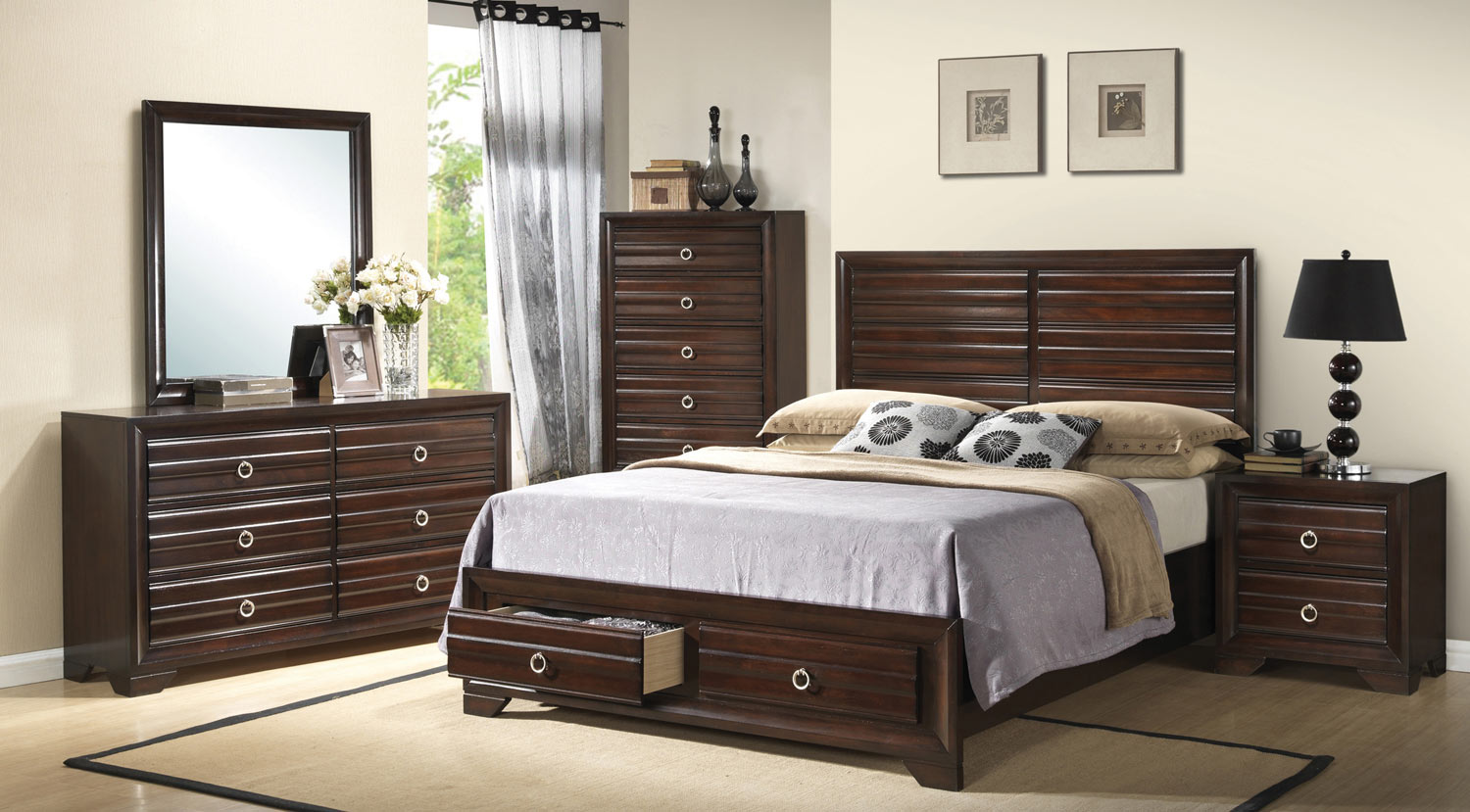 Coaster Bryce Bedroom Set Cappuccino Bed Set at Homelement