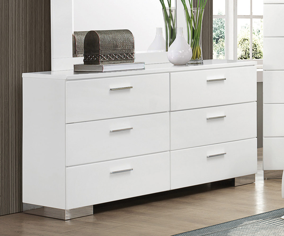 Coaster Felicity Dresser - White