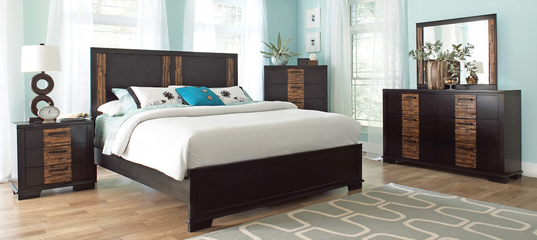 Coaster Dominic Bedroom Set - Charcoal